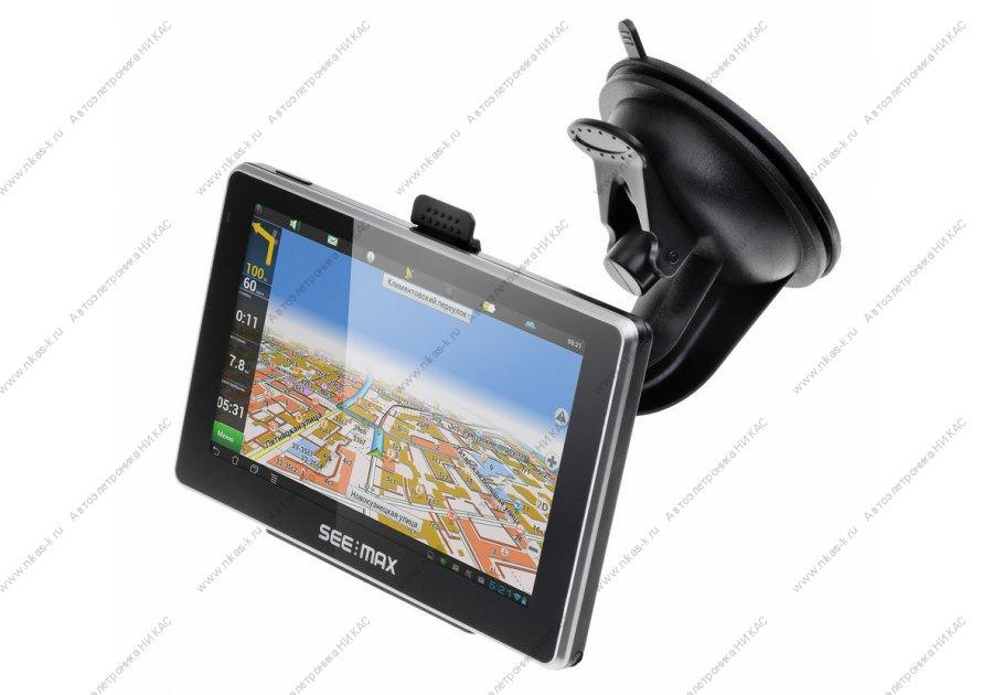 Портативный GPS-навигатор Prology iMap-550AG+ Navitel Black в Челябинске.